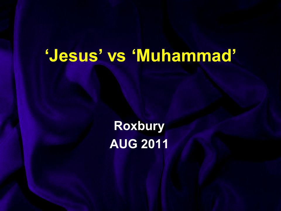 'Jesus' vs 'Muhammad' Roxbury AUG 2011