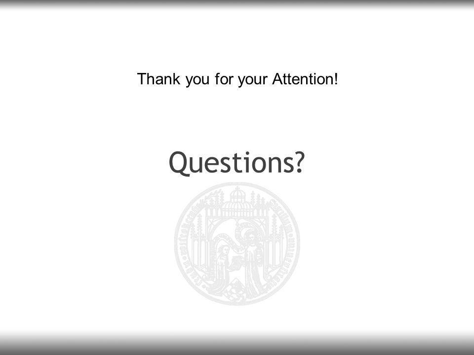 Questions? Thank you for your Attention!