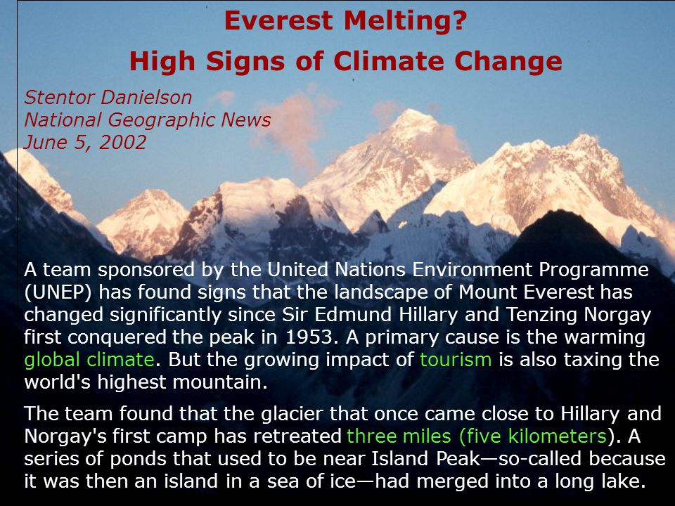 Everest Melting.