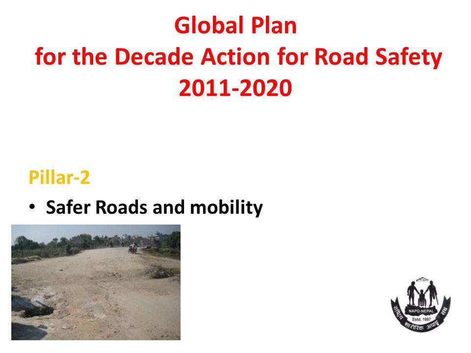 Global Plan for the Decade Action for Road Safety 2011-2020 Pillar-2 Safer Roads and mobility