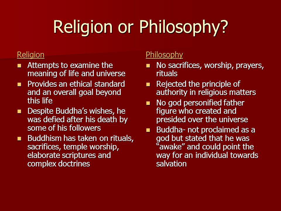 Religion or Philosophy.