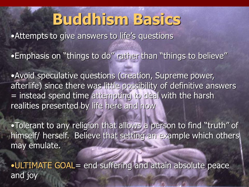 4 NOBLE TRUTHS 1.Suffering -all life consists of suffering (dukkha) 2.