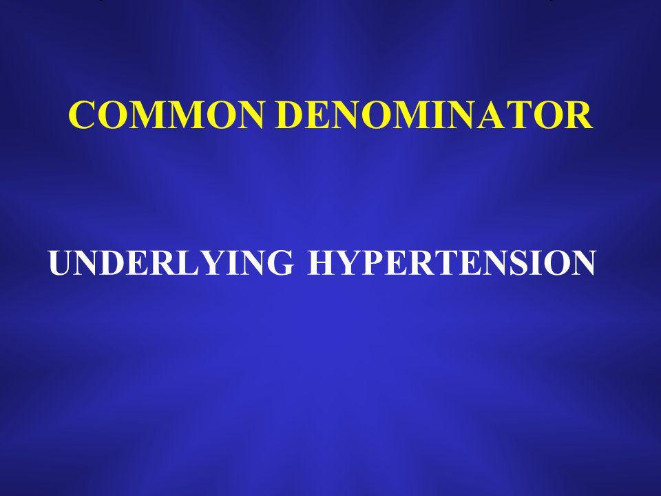 COMMON DENOMINATOR UNDERLYING HYPERTENSION