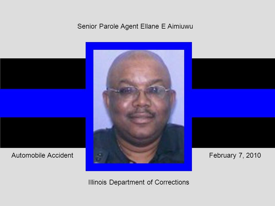 Illinois Department of Corrections February 7, 2010Automobile Accident Senior Parole Agent Ellane E Aimiuwu
