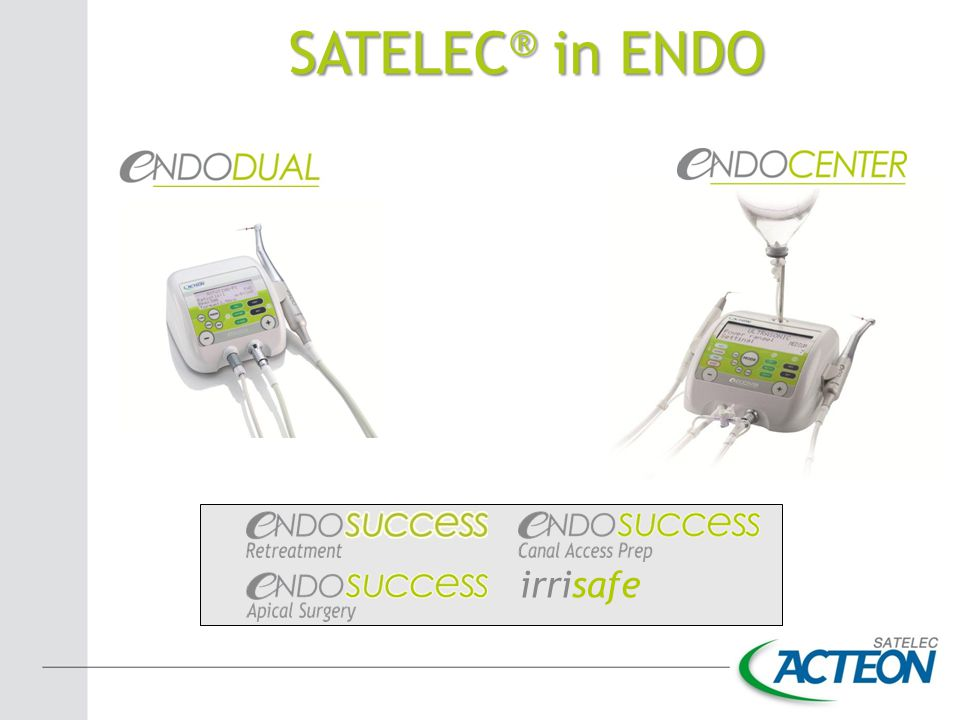 SATELEC ® in ENDO irrisafe