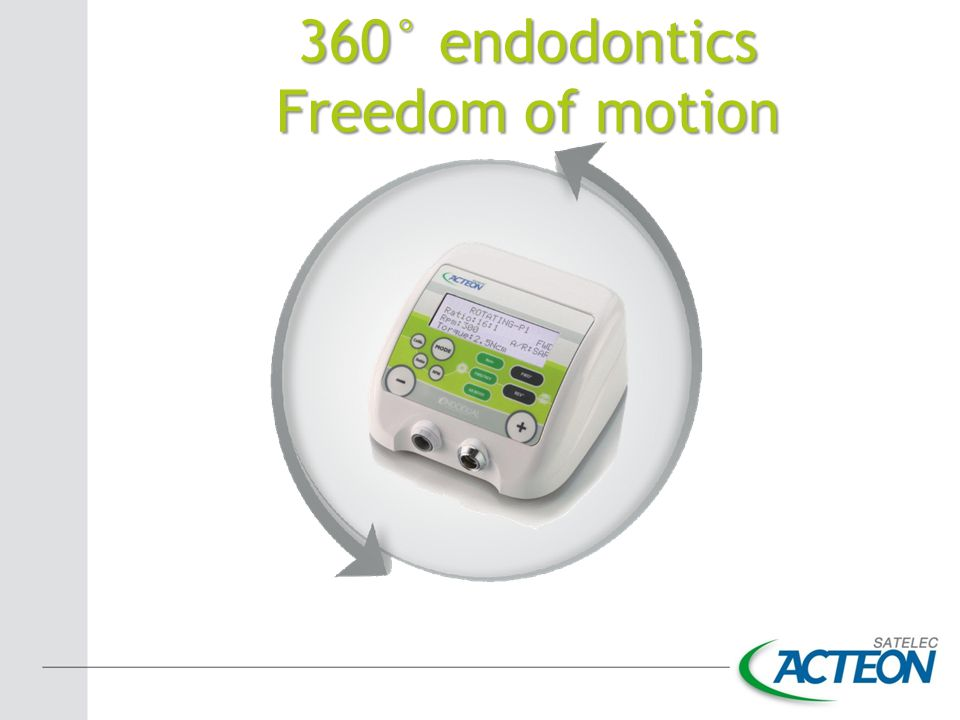 360° endodontics Freedom of motion
