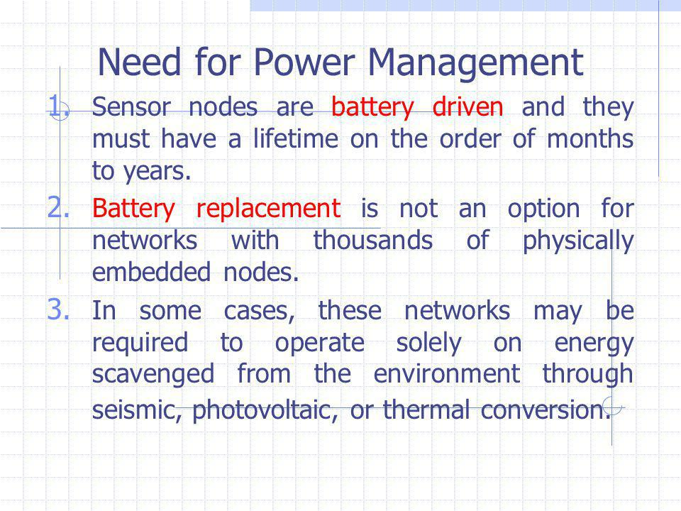 Need for Power Management 1.