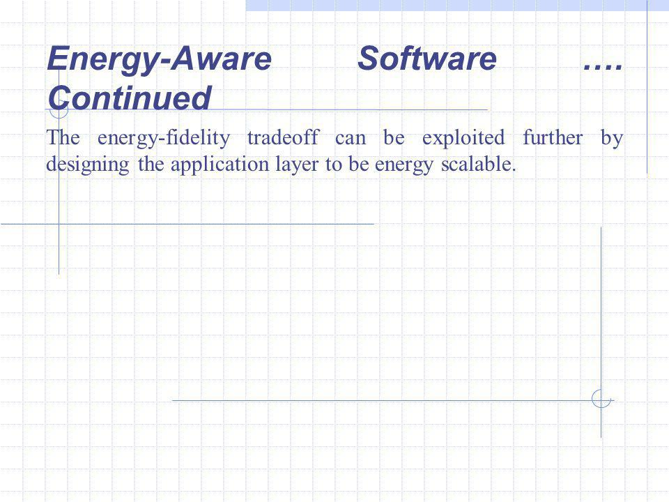 Energy-Aware Software ….