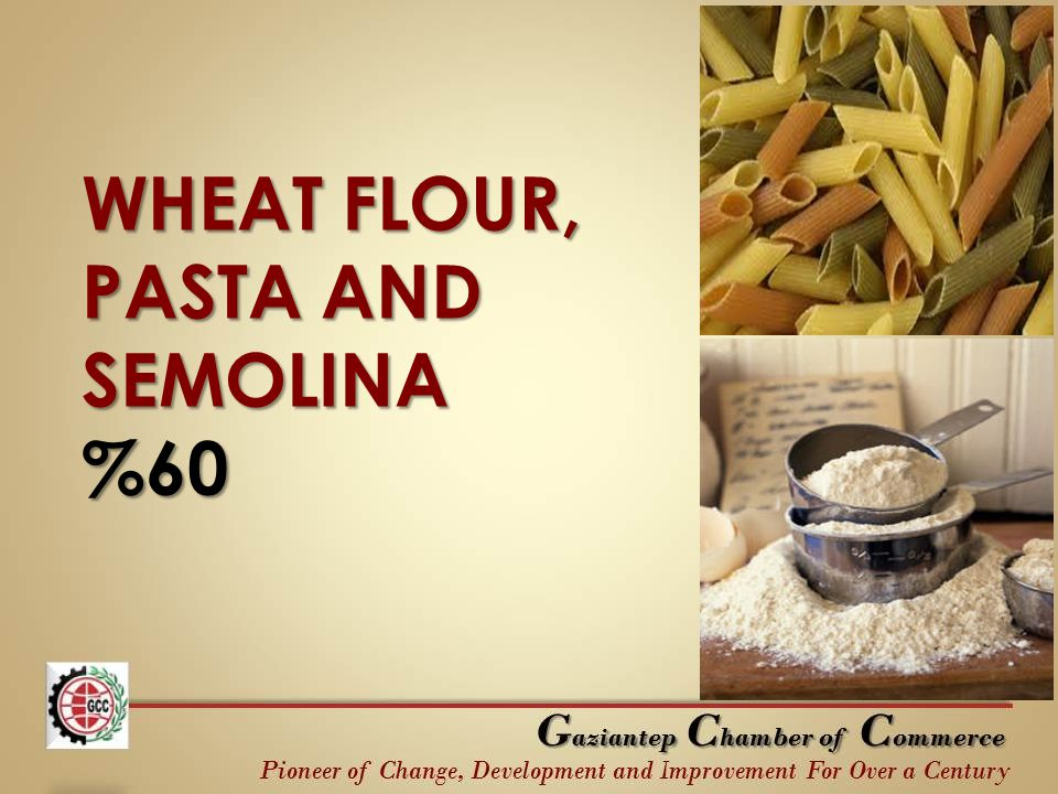 WHEAT FLOUR, PASTA AND SEMOLINA %60