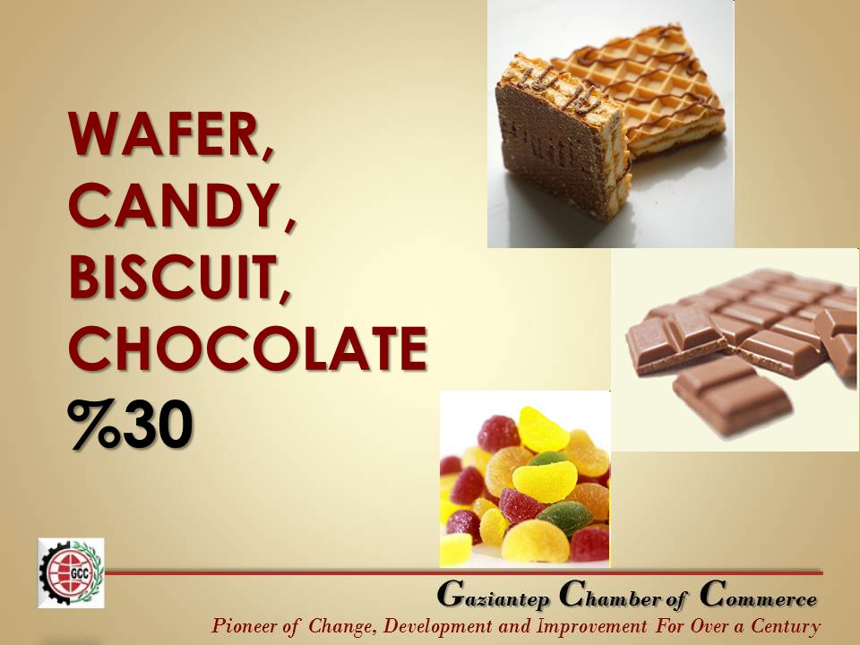 WAFER, CANDY, BISCUIT, CHOCOLATE %30