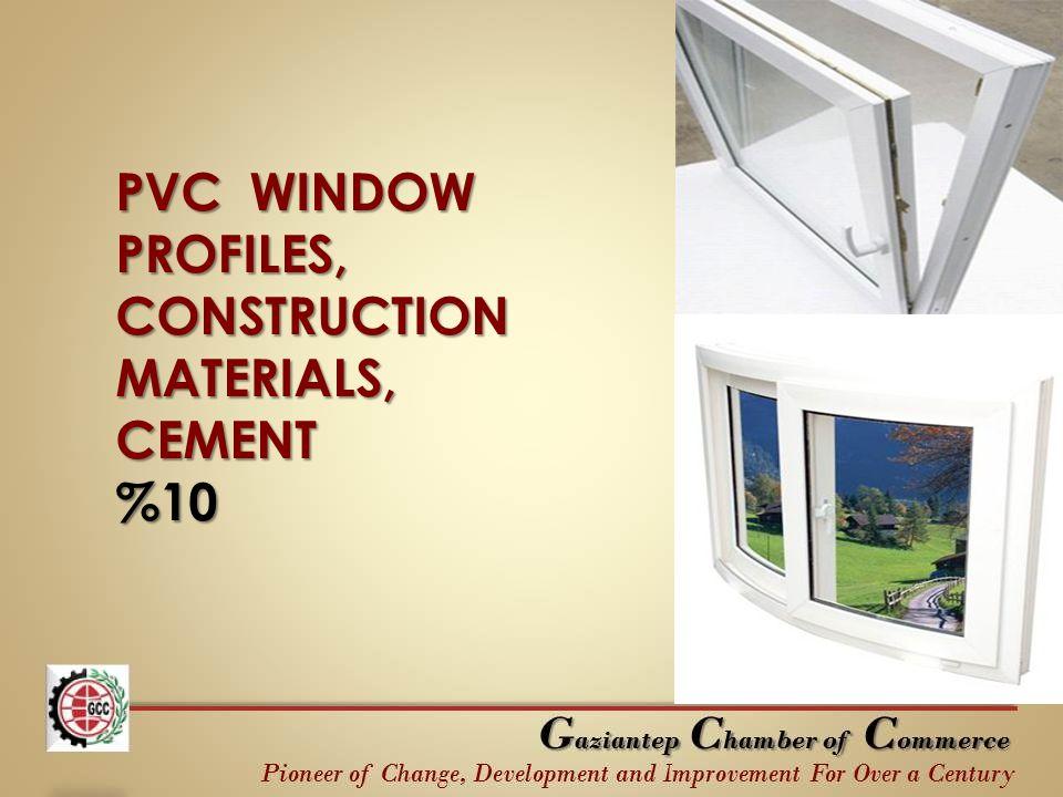 PVC WINDOW PROFILES, CONSTRUCTION MATERIALS, CEMENT %10