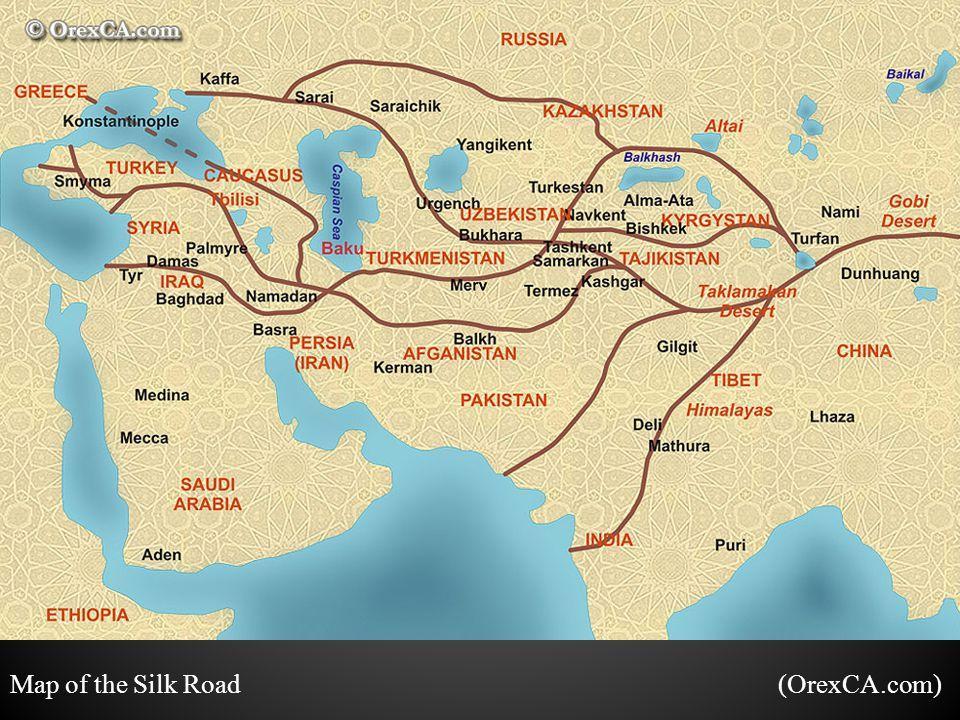 Map of the Silk Road (OrexCA.com)