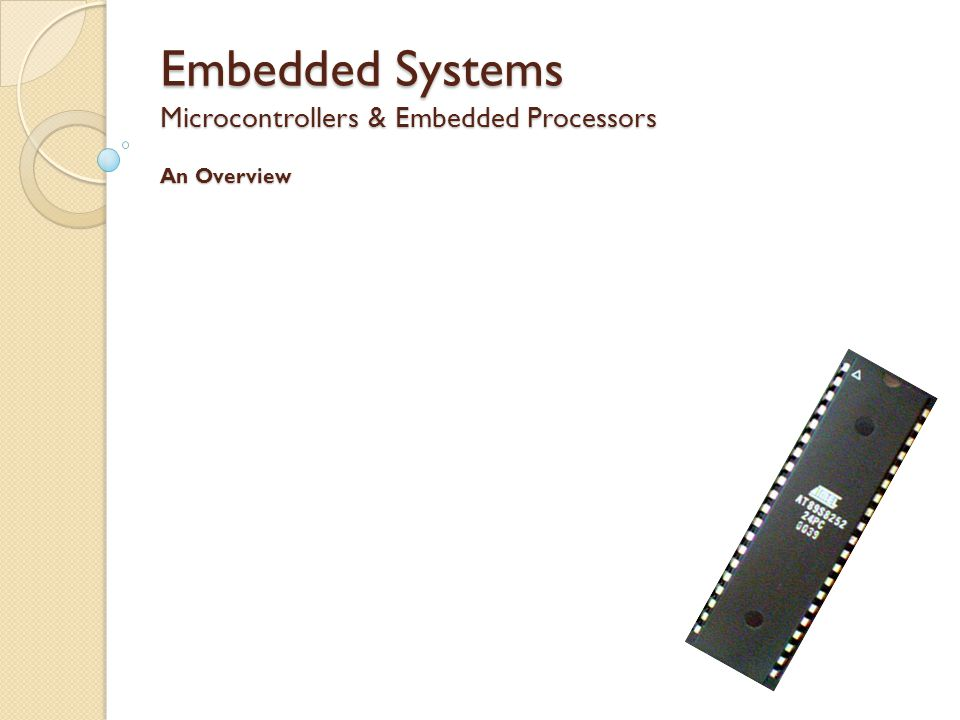 Embedded Systems What is an Embedded System.Where are Embedded Systems used.