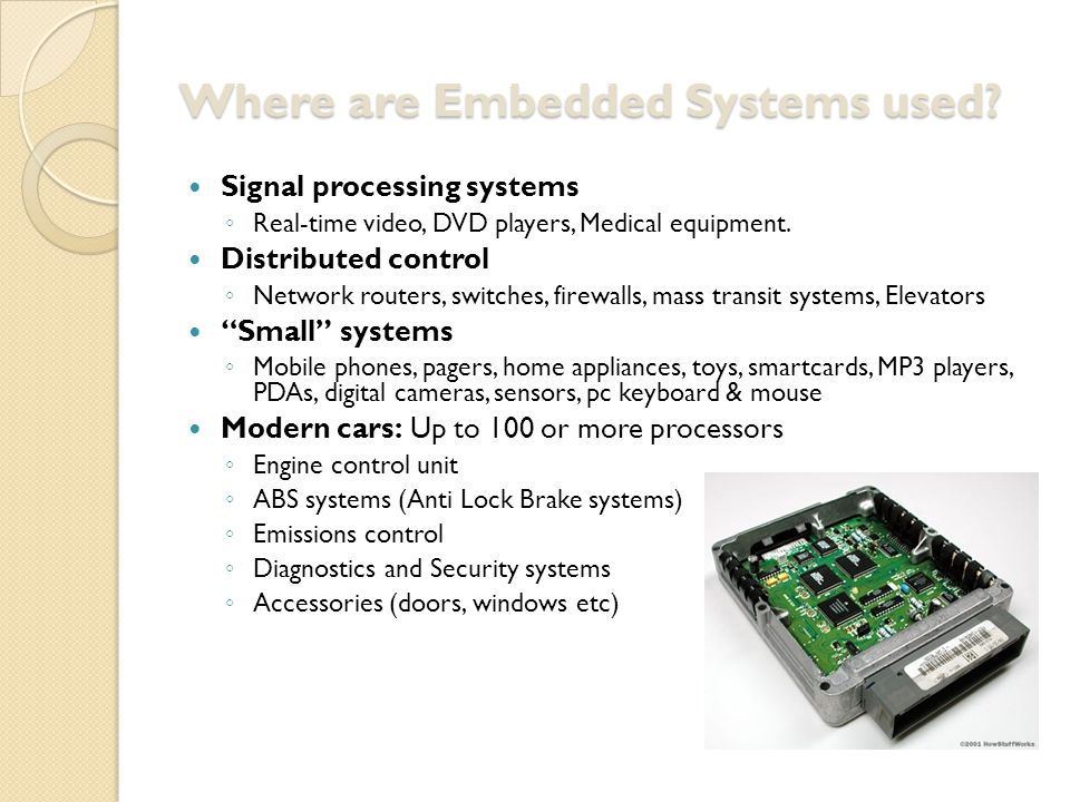 ES: Solutions Embedded Systems Solutions: ◦ Microcontrollers ◦ Embedded Processors ◦ Digital Signal processors