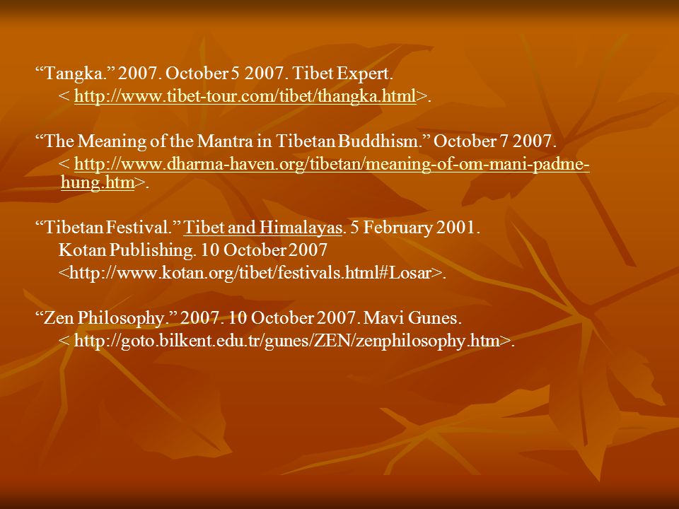 Tangka. 2007. October 5 2007.