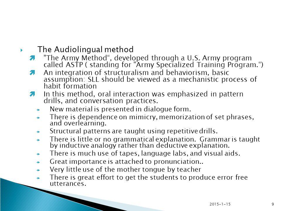 2015-1-159  The Audiolingual method 