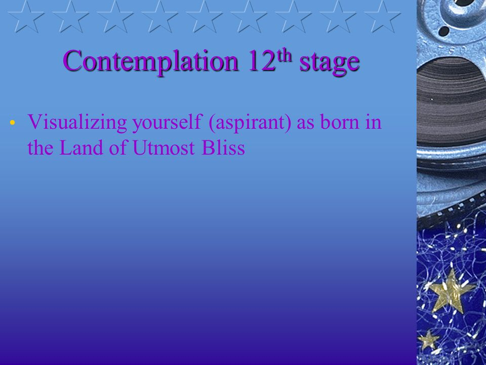 Contemplation 11th stage Visualizing the true physical characteristics of the bodhisattva Mahathamaprapta