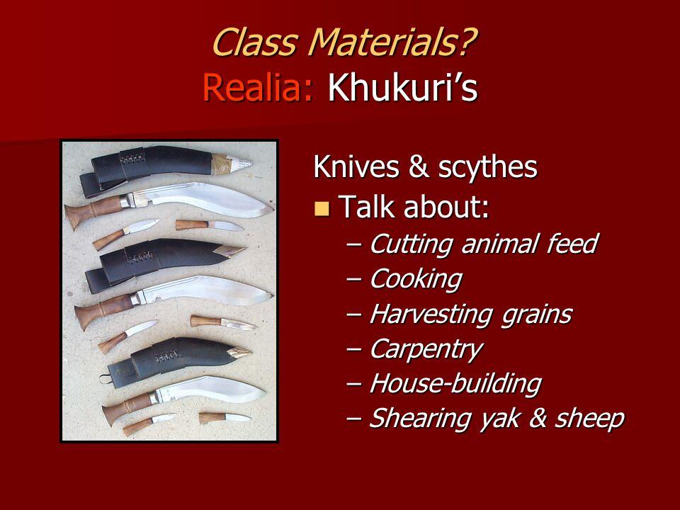 Class Materials.