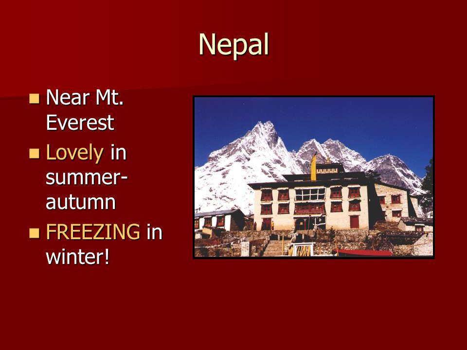 Nepal Near Mt. Everest Near Mt.