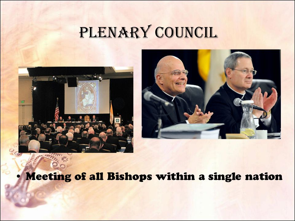 Plenary Council Meeting of all Bishops within a single nation