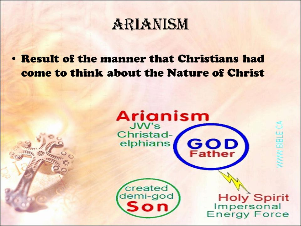 Arianism Result of the manner that Christians had come to think about the Nature of Christ