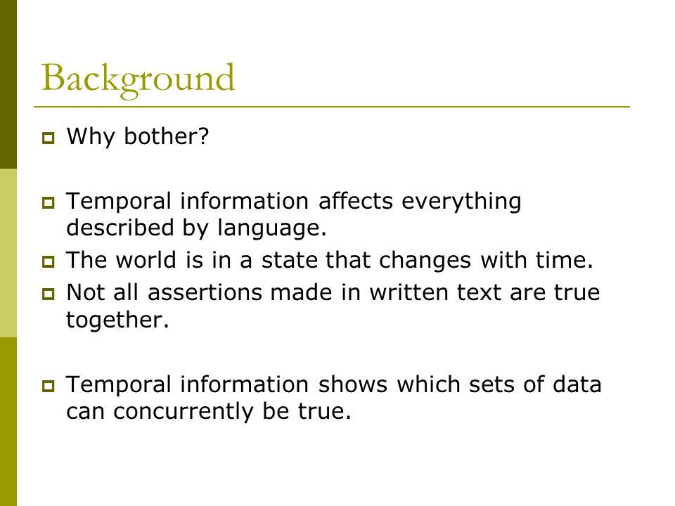 TimeML - TimeBank  Corpus of 181 newswire texts.