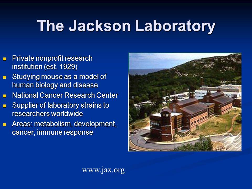 The Jackson Laboratory Private nonprofit research institution (est.