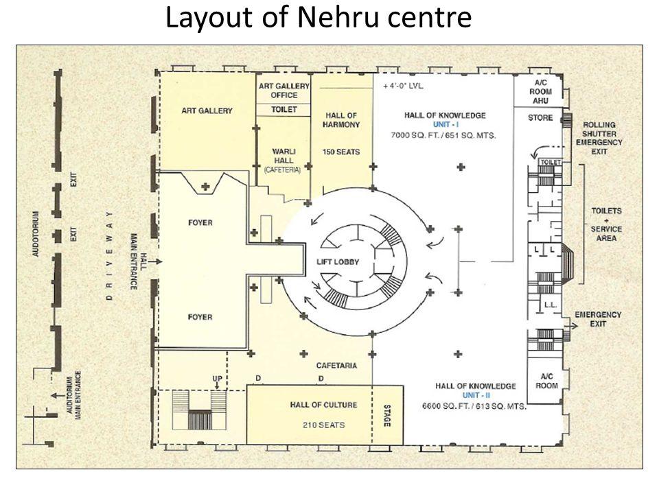 Layout of Nehru centre