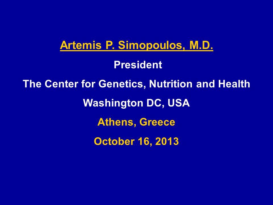 Artemis P. Simopoulos, M.D.