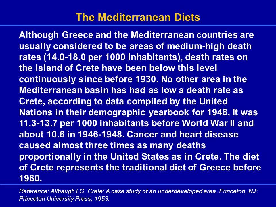 The Seven Country Study Greece(Crete and Corfu)37% fat Yugoslavia(Adriatic Sea, Croatia) Italy Holland Finland U.S.