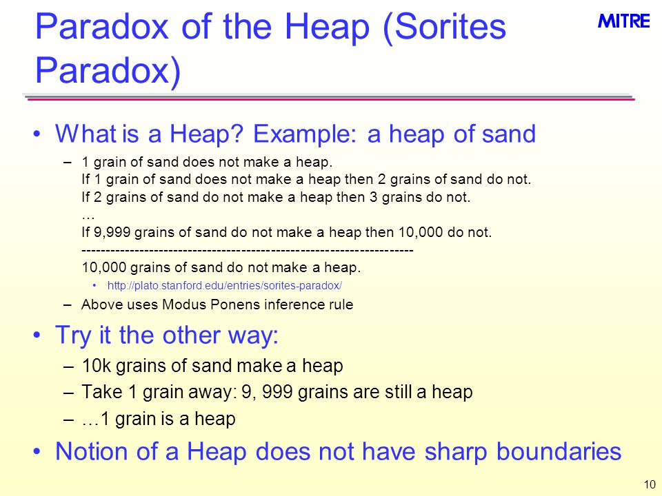 Paradox of the Heap (Sorites Paradox) What is a Heap.