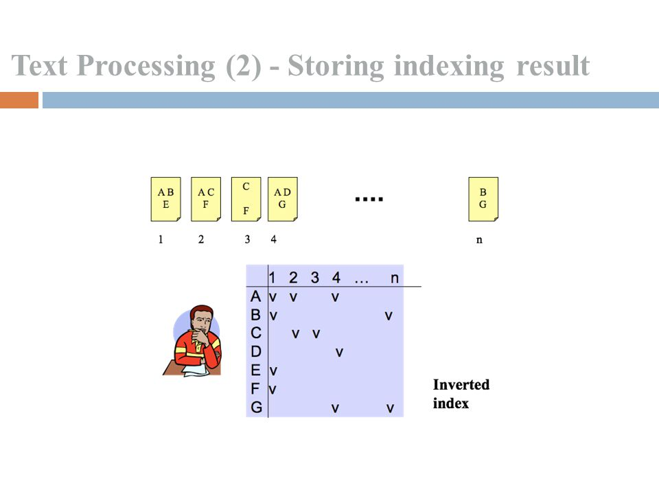 Text Processing (2) - Storing indexing result