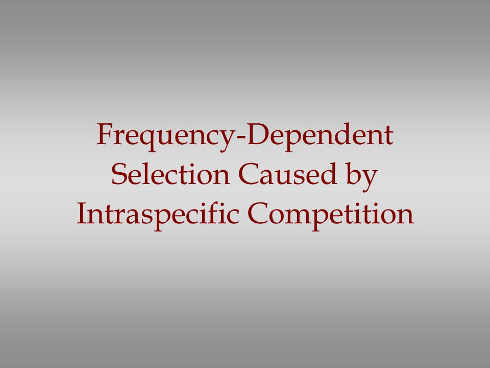Frequency-Dependent Selection Caused by Intraspecific Competition