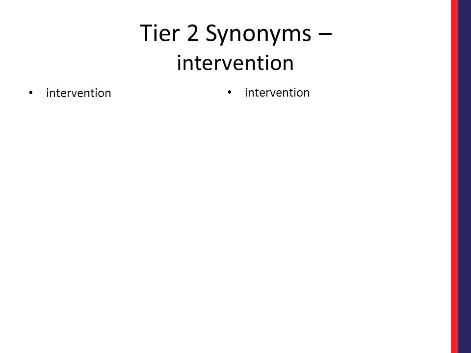 Tier 2 Synonyms – intervention intervention