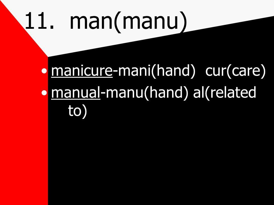 11. man(manu) hand