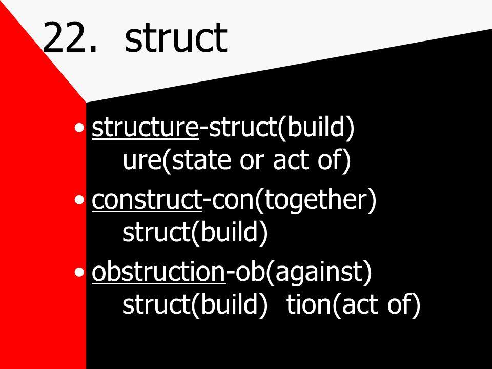 22. struct build