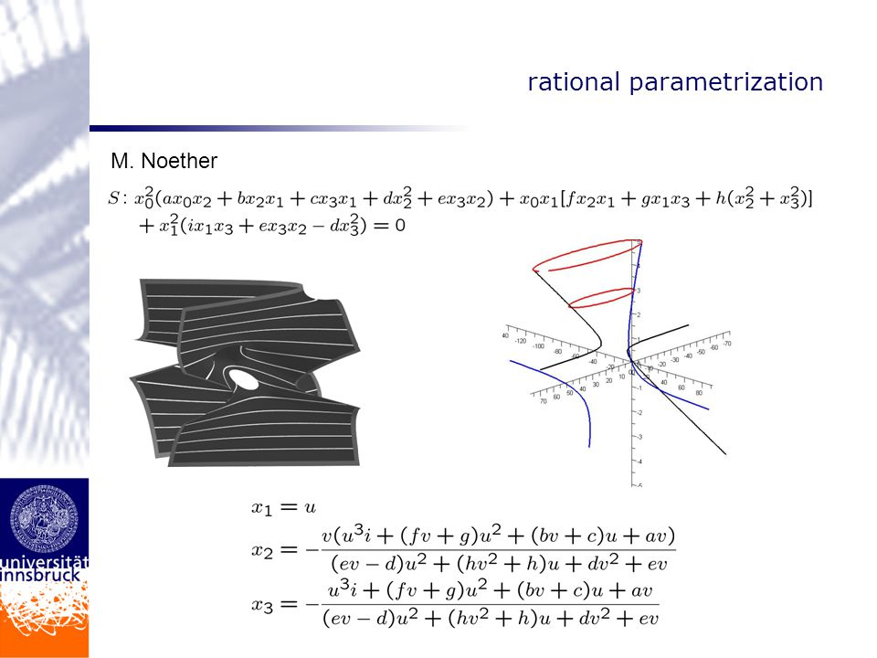 rational parametrization M. Noether