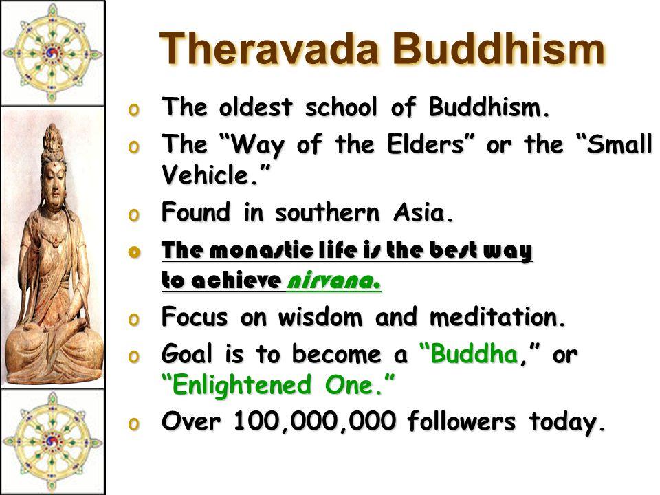 Types of Buddhism Theravada Buddhism Theravada Buddhism (lesser vehicle) (lesser vehicle) Mahayana Buddhism Mahayana Buddhism ( greater vehicle) ( greater vehicle)