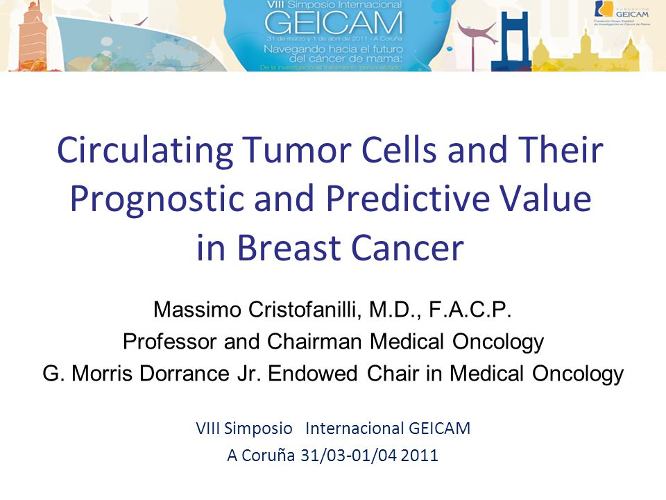 Introduction Prognostic and predictive value of CTCs enumeration (CellSearch®) in MBC Clinical utility of CTCs monitoring Molecular characterization of CTCs and CTCs targeted therapies