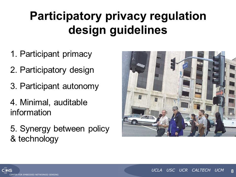 Participatory privacy regulation design guidelines 1.