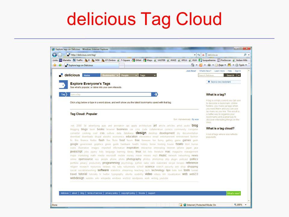 delicious Tag Cloud