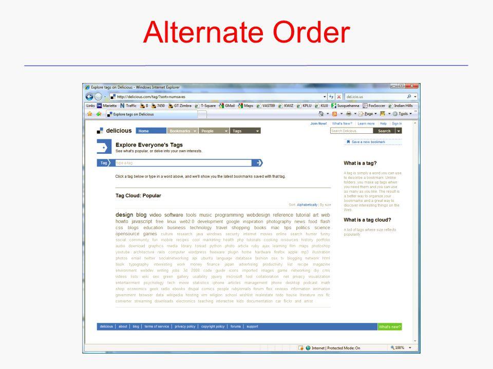 Alternate Order
