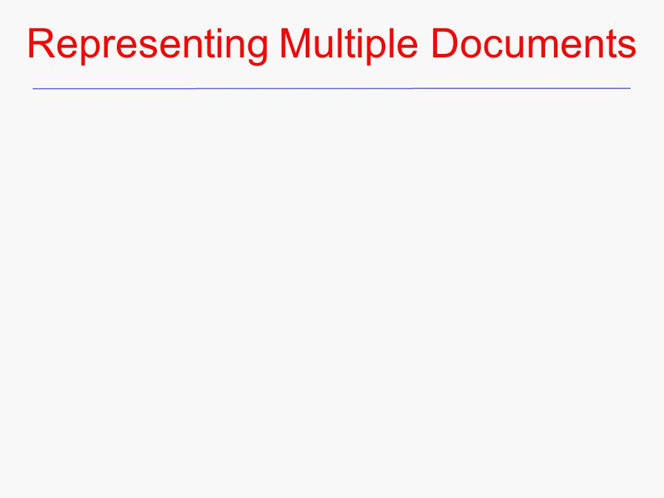 Representing Multiple Documents