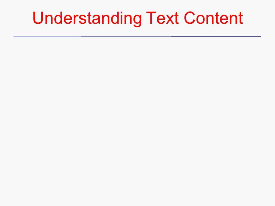 Understanding Text Content