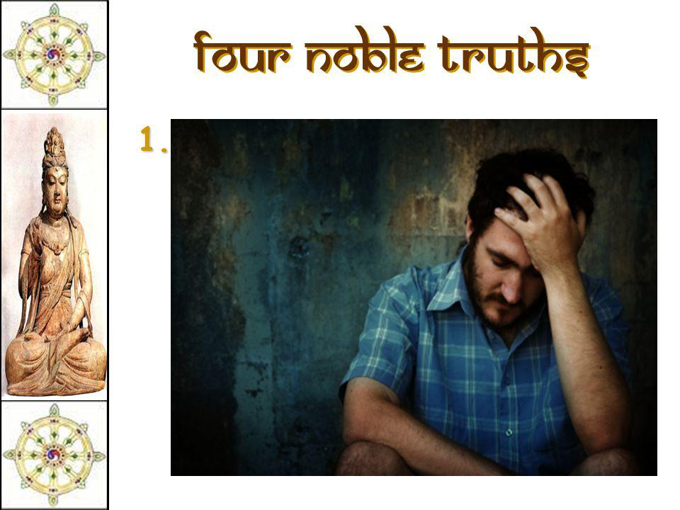Four Noble Truths 1.There is suffering in the world.