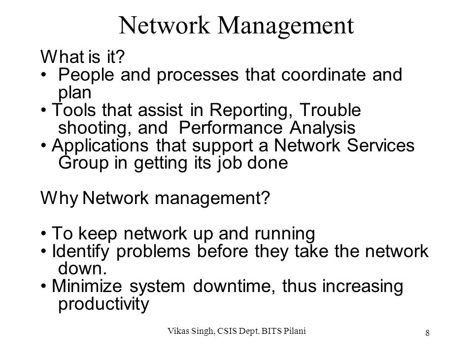 Network Management What is it.