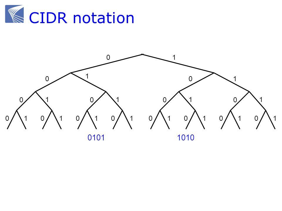 CIDR notation 0101 1 0 01 0 1 0101 0 1 01 0 01 0 1 0101 0 1 01 0 1 1 1010
