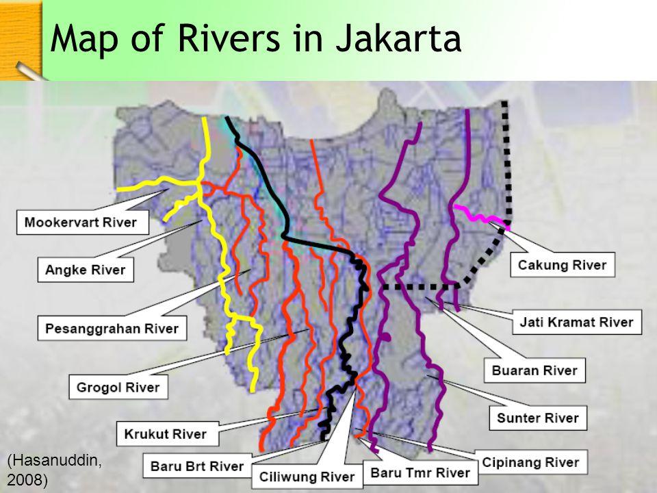 Map of Rivers in Jakarta (Hasanuddin, 2008)