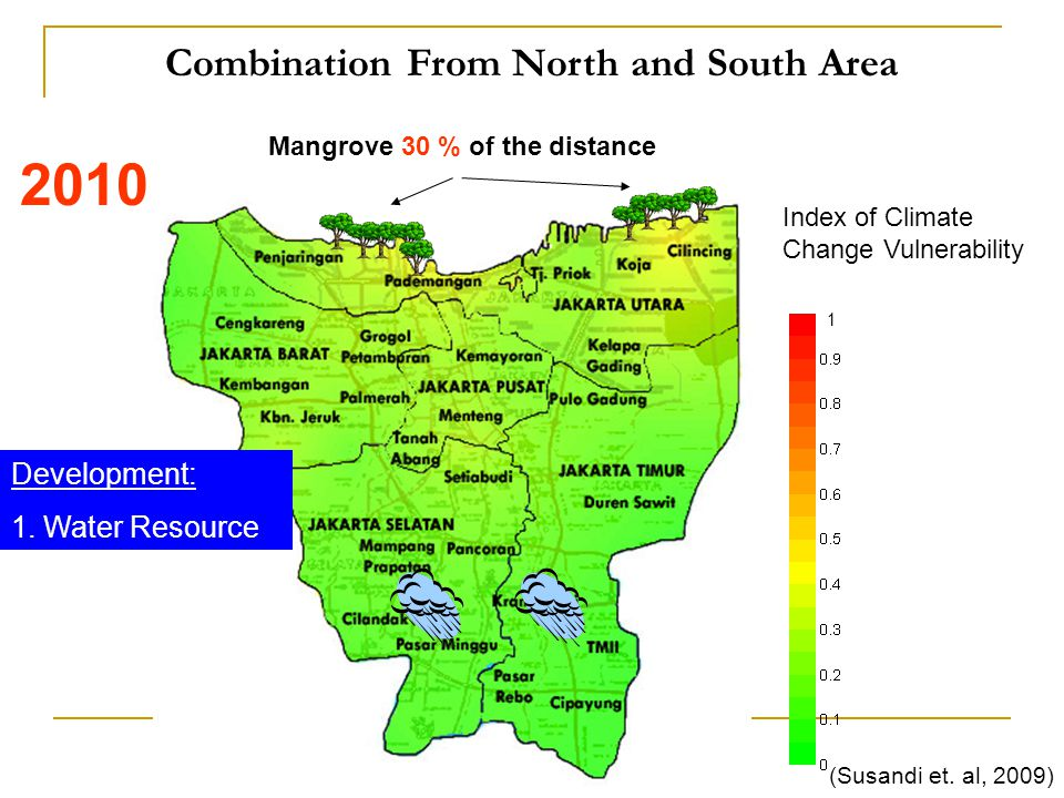 Combination From North and South Area Index of Climate Change Vulnerability 1 (Susandi et.