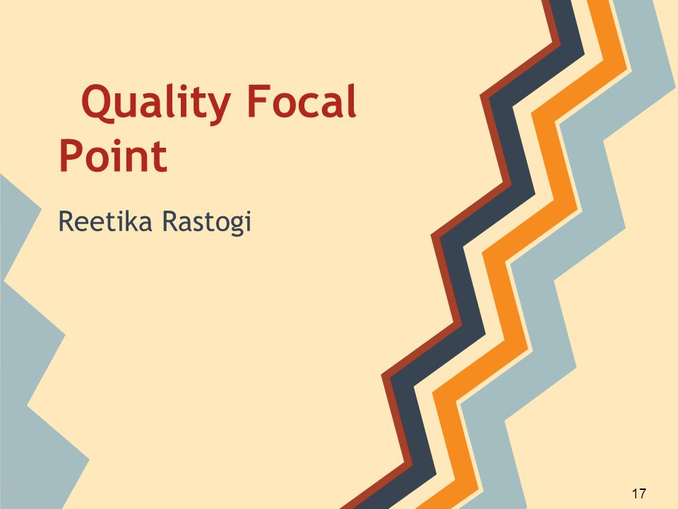 Quality Focal Point Reetika Rastogi 17